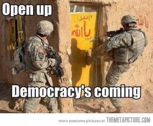 """""""Открывайте! Демократия пришла!"""""""
